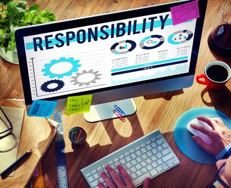 duty: Responsibility Duty Job Reliablity Trust Concept Stock Photo