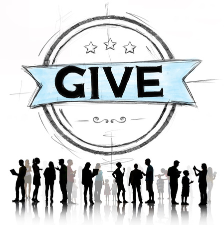 provide: Give Help Donation Support Provide Volunteer Concept