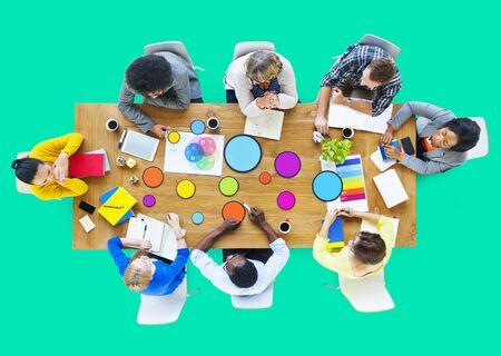 creativity: Meeting Corporate Connection Designer Creativity Concept