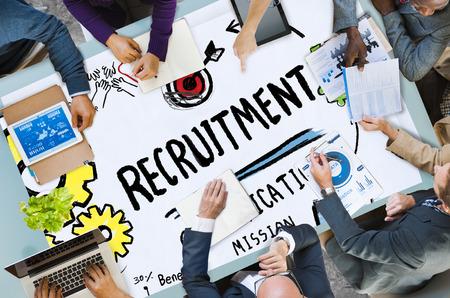 채용 자격 미션 적용 고용 채용 개념