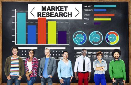 Marktonderzoek Zaken Percentage Onderzoek Marketing Strategie Concept