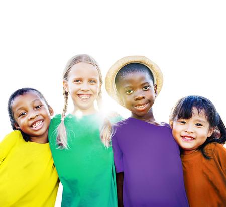 diversity: Diversity Ethnicity Children Friendship Smiling Happiness Concept
