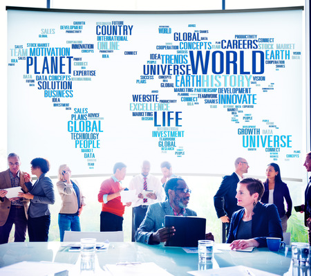 world of work: World Globalization International Life Planet Concept
