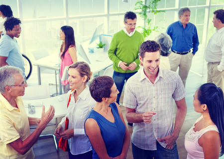body building: Group of Business People in the Office Stock Photo