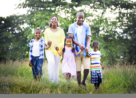 african american mother and daughter: African Family Happiness Holiday Vacation Activity Concept