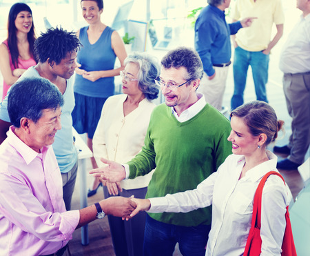 social grace: Group of Business People in the Office Stock Photo