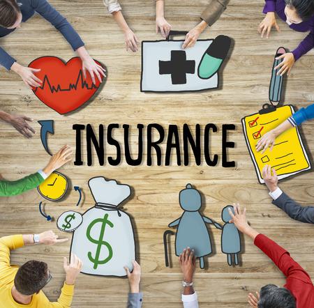 Versicherungsschutzgarantie Sicherheit Sicherheitssicherheitskonzept Standard-Bild