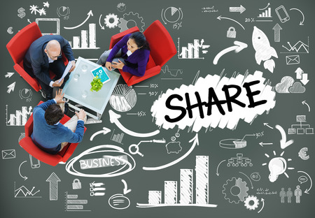 Share Sharing Connection Online Communication Networking Concept Stock fotó