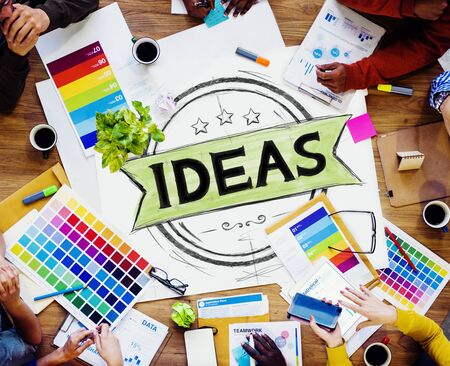 Ideas Vision Creative Mission Solution Cocnept Stock Photo