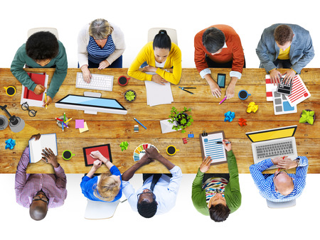administrator: Administrator Casual Colleagues Team Teamwork Togetherness Concept Stock Photo