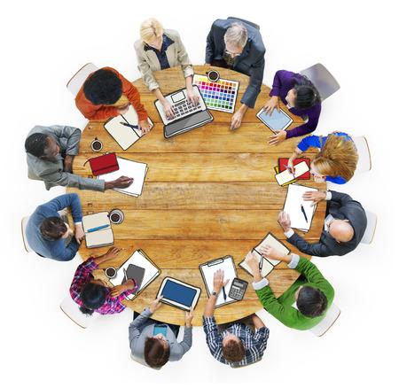 it support: Designer Team Ideas Meeting Brainstorming Working Concept