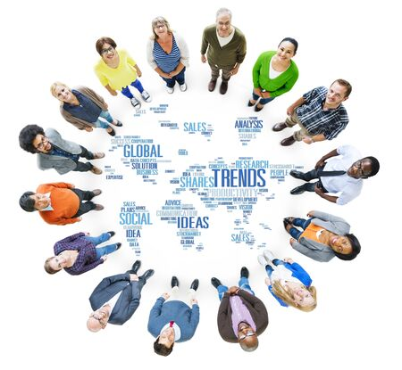 craze: Trends World Map Marketing Ideas Social Style Concept Stock Photo