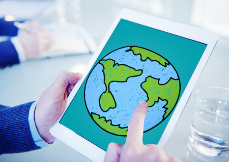 sourcing: Global Networking Communication Economy Worldwide Concept Stock Photo