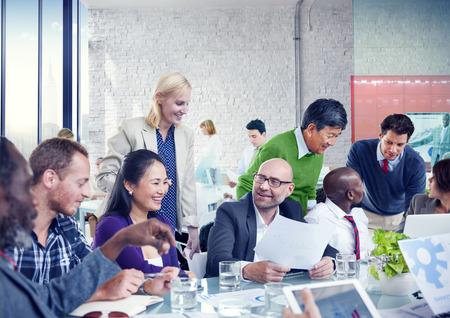 gente reunida: Gente de negocios equipo de trabajo en equipo Cooperación, Oficio Concept