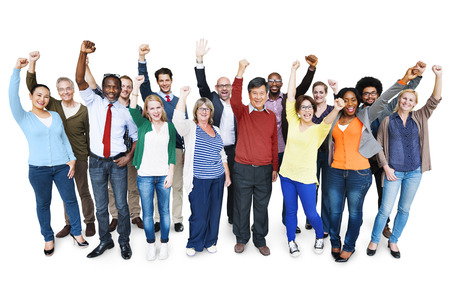 society: Diversity Casual Team Cheerful Success Community Concept Stock Photo