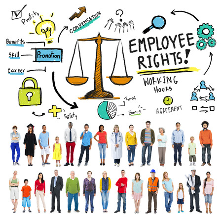 Employee Rights Working Benefits Skill Career Compensation Concept Stock Photo