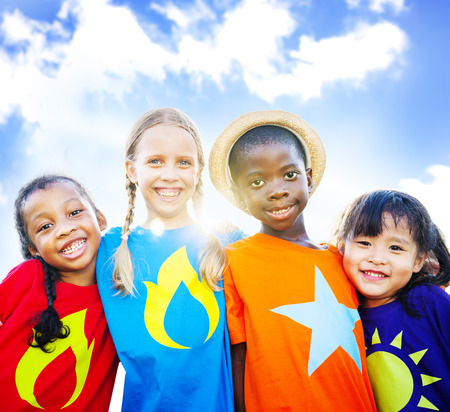 Children Kids Diversity Friendship Happiness Cheerful Concept Фото со стока - 41398961