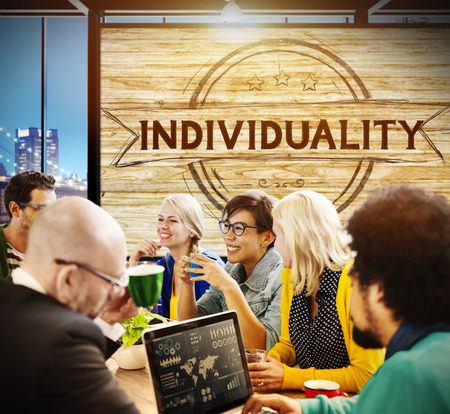 individuality: Individuality Character Different Independence Person Concept Stock Photo