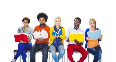 Education College Diverse Diversity Ethnic Ethnicity Team Concept Stock Photo