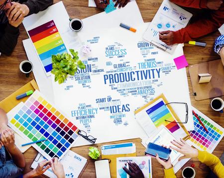 Productiviteit Missie Strategie Business World Vision Concept Stockfoto