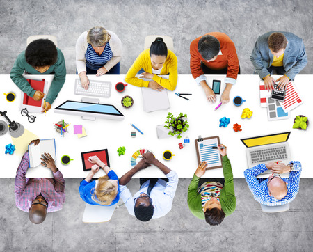 colleagues: Administrator Casual Colleagues Team Teamwork Togetherness Concept Stock Photo