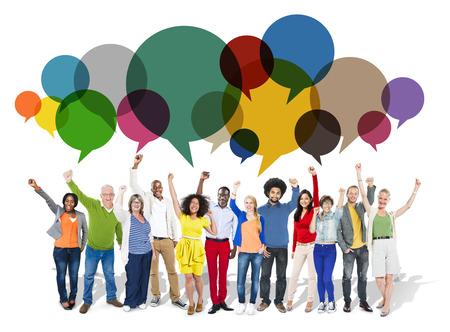personas platicando: Casual Gente Mensaje Hablar comunicaci�n Concepto