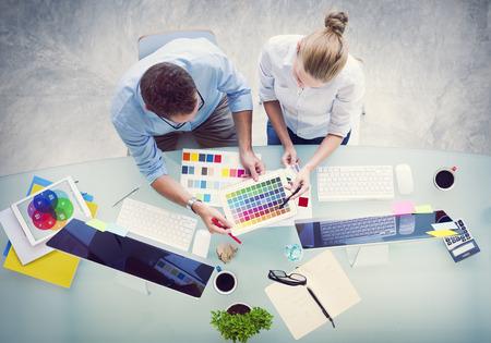 grafik: Brainstorming Planung Partnership Strategy Workstation Geschäfts Adminstratation Konzept