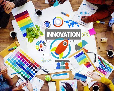 creativity: People Meeting Creativity Growth Success Innovation Concept