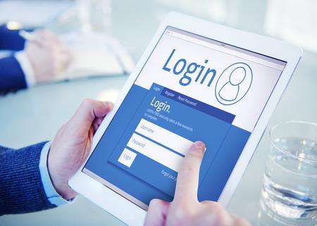 ログイン登録会員ユーザー登録参加購読コンセプト 写真素材