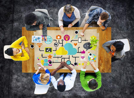 trabajo social: Apoyo de Medios Sociales Redes sociales Data Concept Almacenamiento