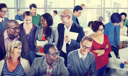 Diversiteit Ondersteuning Organisatie Team discussie Werken Concept Stockfoto