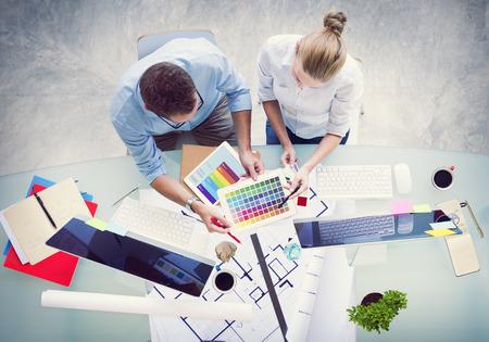 Brainstormen Planning Partnership Strategy Workstation Zaken Adminstratation Concept Stockfoto - 41399357