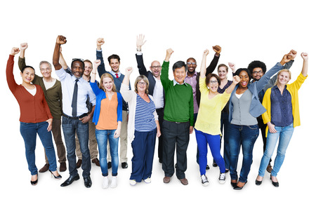 diversity people: Diversity Casual Team Cheerful Success Community Concept Stock Photo