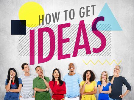 thinking woman: Ideas Thinking Concept Inspiration Creativity Concept
