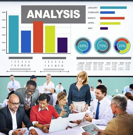 data: Analysis Analytics Bar graph Chart Data Information Concept Stock Photo