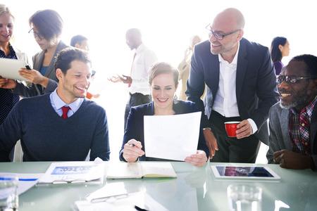 비즈니스 사람들이 회의 회의 세미나 공유 전략 개념 스톡 콘텐츠