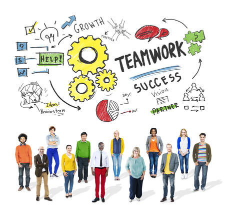 business strategy: Teamwork Team Together Collaboration Diversity People Group Concept