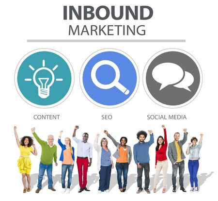 inbound: Inbound Marketing Commerce Content Social Media Concept
