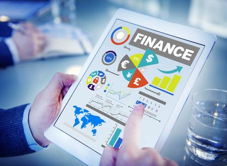 contabilidad: finanzas gr�fico de barras de inversi�n carta concepto de negocio de dinero