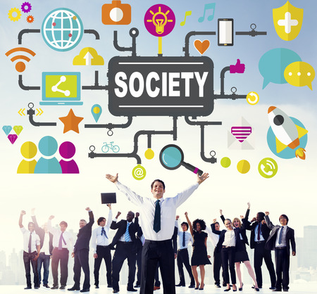 social system: Society Community Global Togetherness Connecting Internet Concept