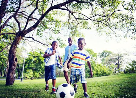 African Familie Glück Ferien Urlaub Aktivität Konzept