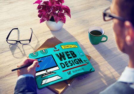 website plan: Web Design Development Style Ideas Interface Concept
