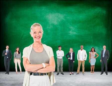 cooperate: Leardership Communication Cooperate Team Concept Stock Photo