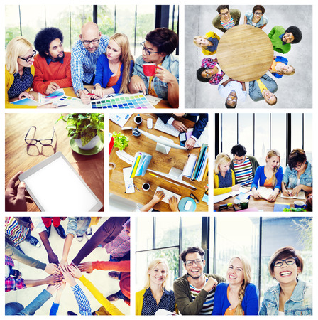 organized group: Diverse Group People Working Team Interaction Concept