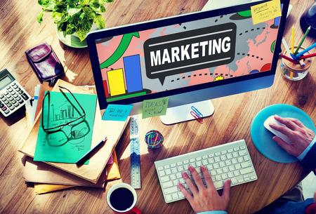 商業広告計画コンセプトのブランド マーケティング戦略 写真素材