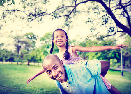 happy: African Family Happiness Holiday Vacation Activity Concept
