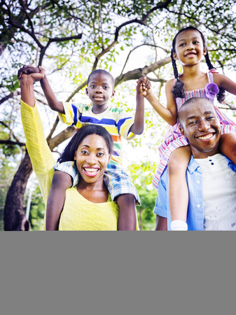 holding hand: African Family Happiness Holiday Vacation Activity Concept