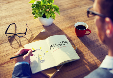 Zakenman Mission Marketing Goal Project Planning Concept Stockfoto