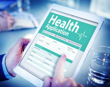 Digital Health Insurance Application Form Concept Stock Photo