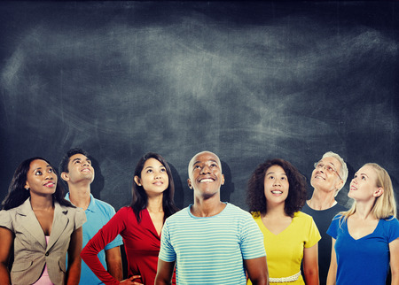 college student: Diversity People Ideas Thinking Looking up Study Group Concept
